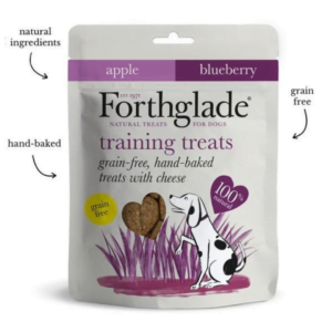 dog treats with cheese, apple and blueberry